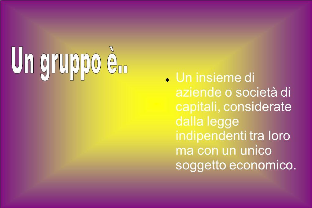 Un insieme di aziende o società di capitali, considerate dalla legge indipendenti tra loro ma con un unico soggetto economico.