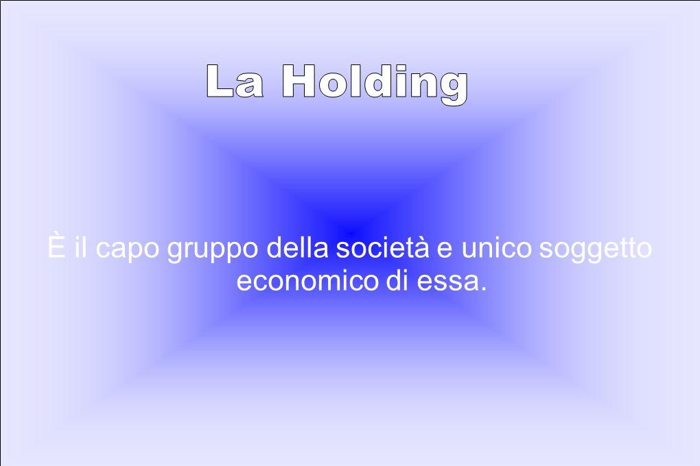 È il capo gruppo della società e unico soggetto economico di essa.
