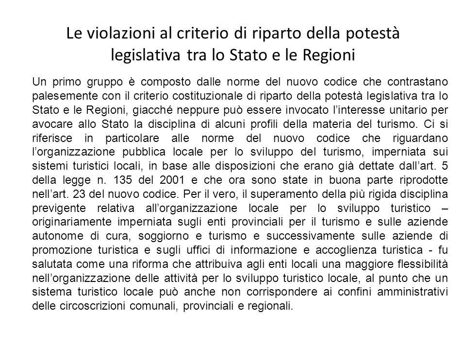 Riconoscimento Il riconoscimento degli STL per favorire lintegrazione tra politiche del turismo e politiche di governo del territorio, anche ai fini dellattribuzione dei finanziamenti, spetta alle Regioni.