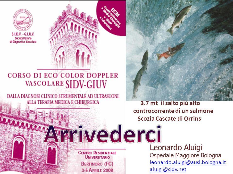 Leonardo Aluigi Ospedale Maggiore Bologna leonardo.aluigi@ausl.bologna.it aluigi@sidv.net 3.7 mt il salto più alto controcorrente di un salmone Scozia