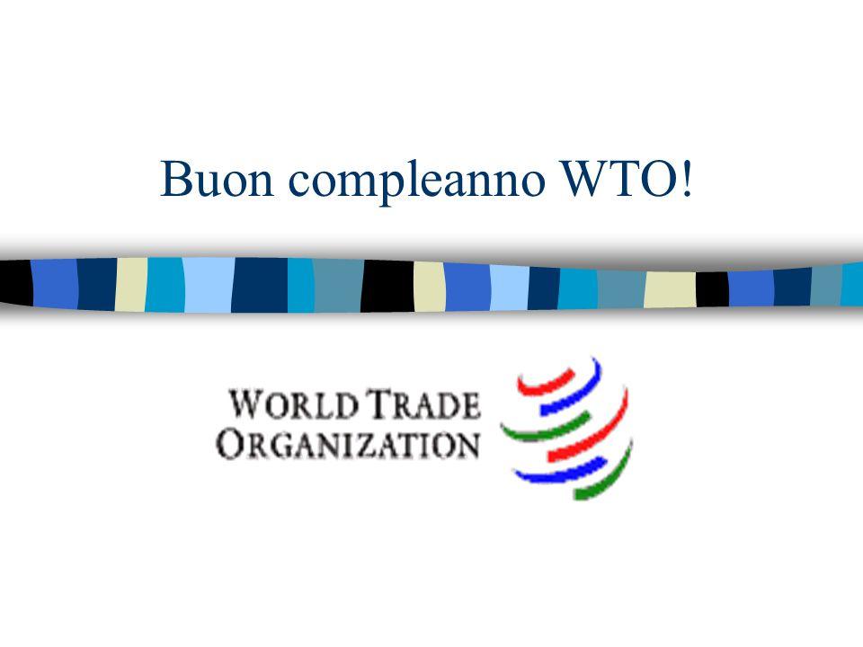 Organizzazione Mondiale del Commercio n Unica organizzazione internazionale che supervisiona le regole commerciali fra i paesi n Tra le più giovani organizzazioni internazionali, viene fondata nel 1995 per succedere al General Agreement on Tariffs and Trade (GATT) creato alla fine della II Guerra Mondiale n 148 paesi membri (gennaio 2005)