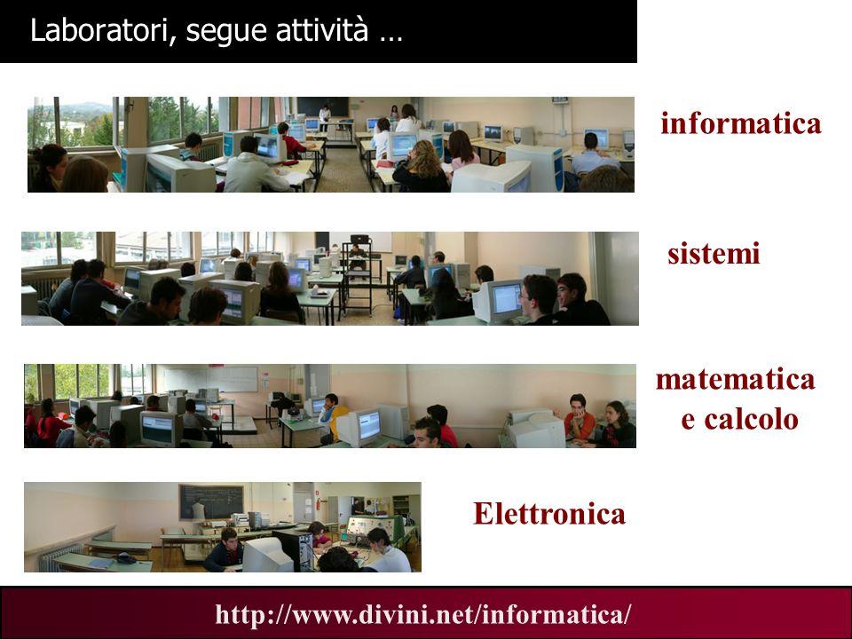 00 AN 7 http://www.divini.net/informatica/ Laboratori, segue attività … informatica sistemi matematica e calcolo Elettronica