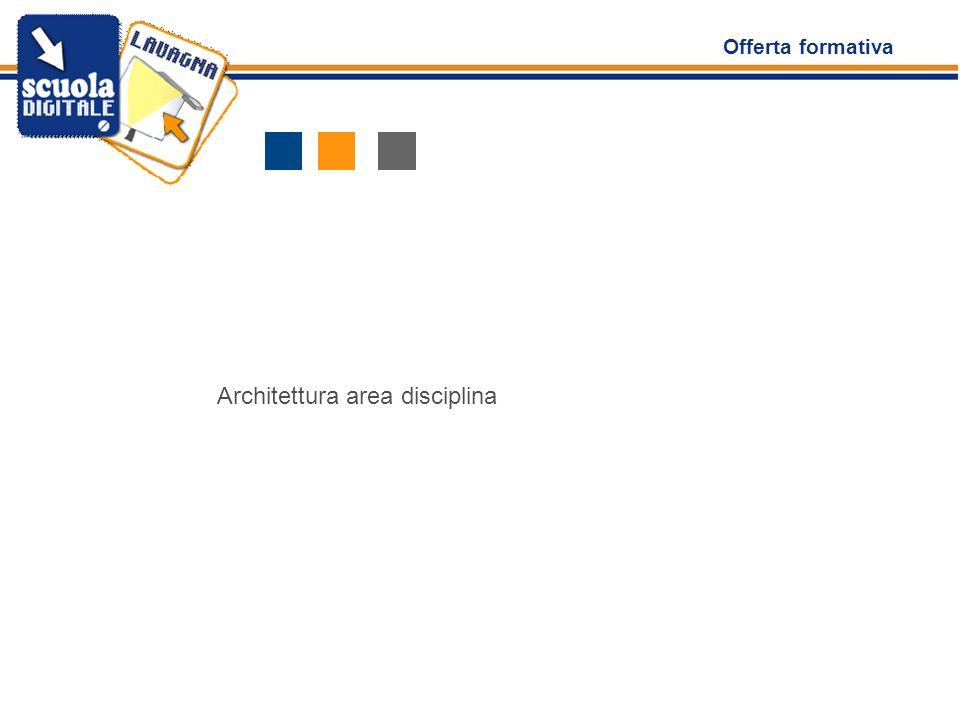 Offerta formativa Architettura area disciplina