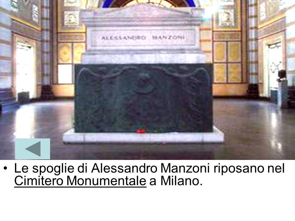 Nel 1873, morì a Milano, venerato come il letterato italiano più rappresentativo del secolo e come il padre della lingua italiana moderna. Solenne fu