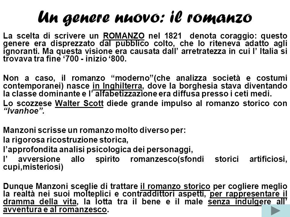Cornice storica I Promessi Sposi sono un romanzo storico: i personaggi nati dalla fertile invenzione dello scrittore sono inseriti nella cornice stori