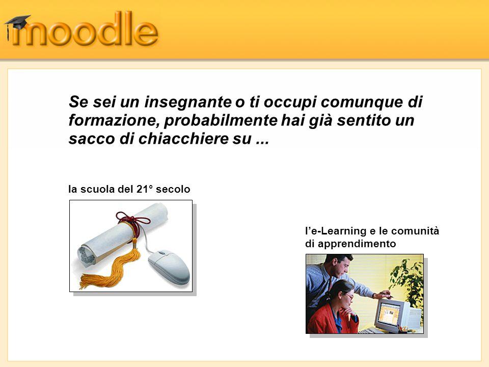 Gestione dei Partecipanti - Help Una estesa documentazione di Help delle funzionalità di Moodle è accessibile cliccando sugli appositi pulsanti.