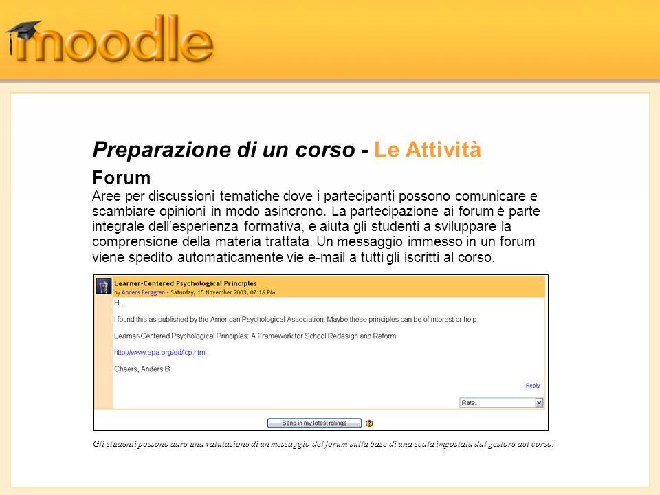 Gestione dei Partecipanti - I Voti Il controllo dei Compiti e dei Diari inviati e l aggiunta di Voti e commenti sono fatti da una singola pagina che visualizza tutti gli studenti iscritti.
