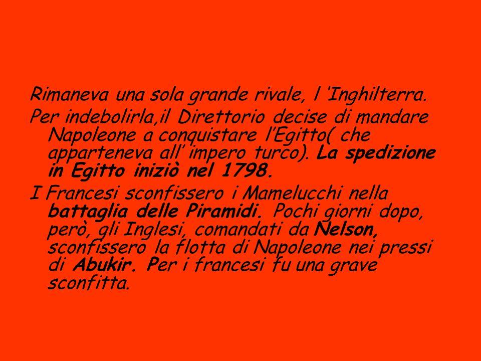 Dopo Abukir le repubbliche sorelle italiane crollarono.