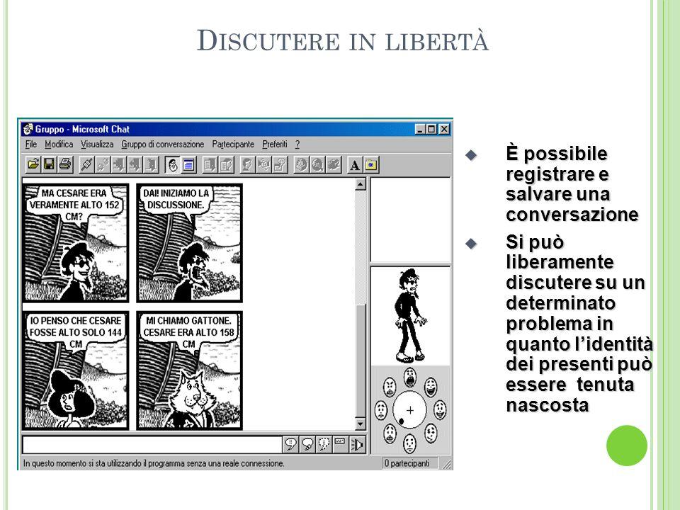 L E C HAT L INE : ovvero se Dante e Beatrice si fossero incontrati per caso su una Chat Una Chat Line permette di comunicare in tempo reale, attravers