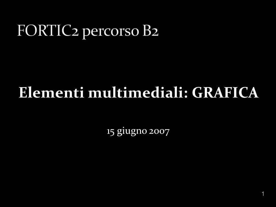 Elementi multimediali: GRAFICA 15 giugno 2007 1