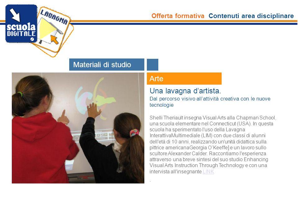 Offerta formativa Contenuti area disciplinare Esperti Arte Realizzare percorsi di lettura dell immagine con il software 2D L attività propone di sperimentare in classe la risorsa Reader 2D.