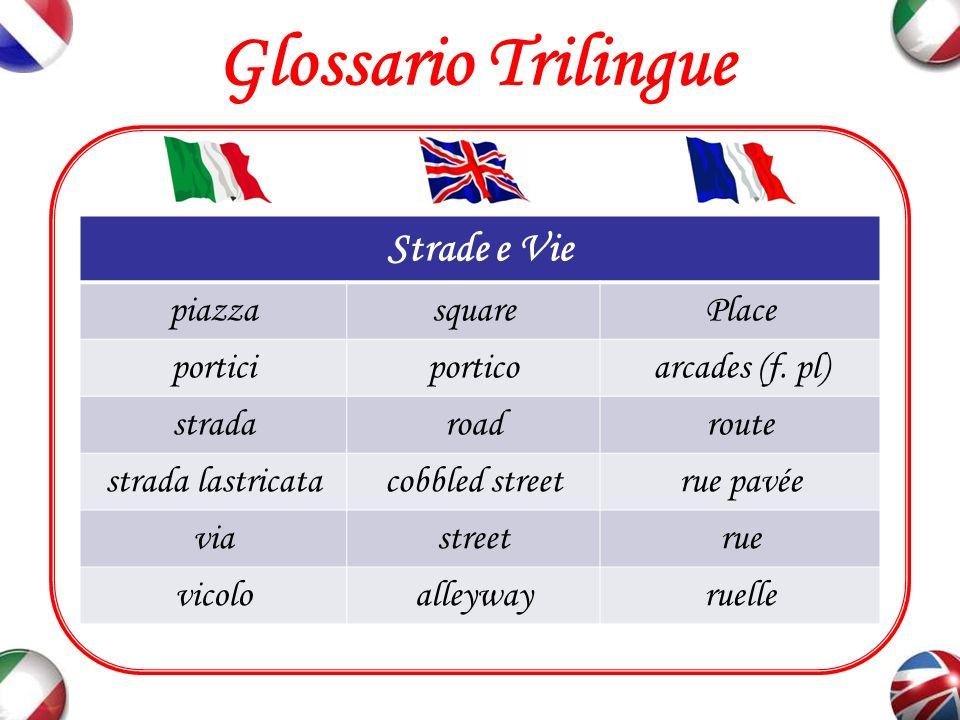 Glossario Trilingue Sostantivi e Aggettivi Utili (1) artisticoartisticartistique culturaleculturalculturel industrialeindustrialindustriel marittimomaritime
