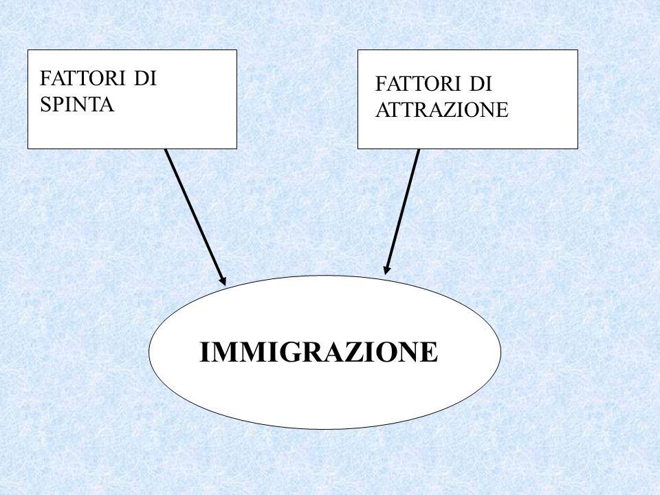L immigrazione è principalmente un fenomeno storico e sociale. Gli immigrati partono dal proprio paese d origine per trovare fortuna in un paese ospit