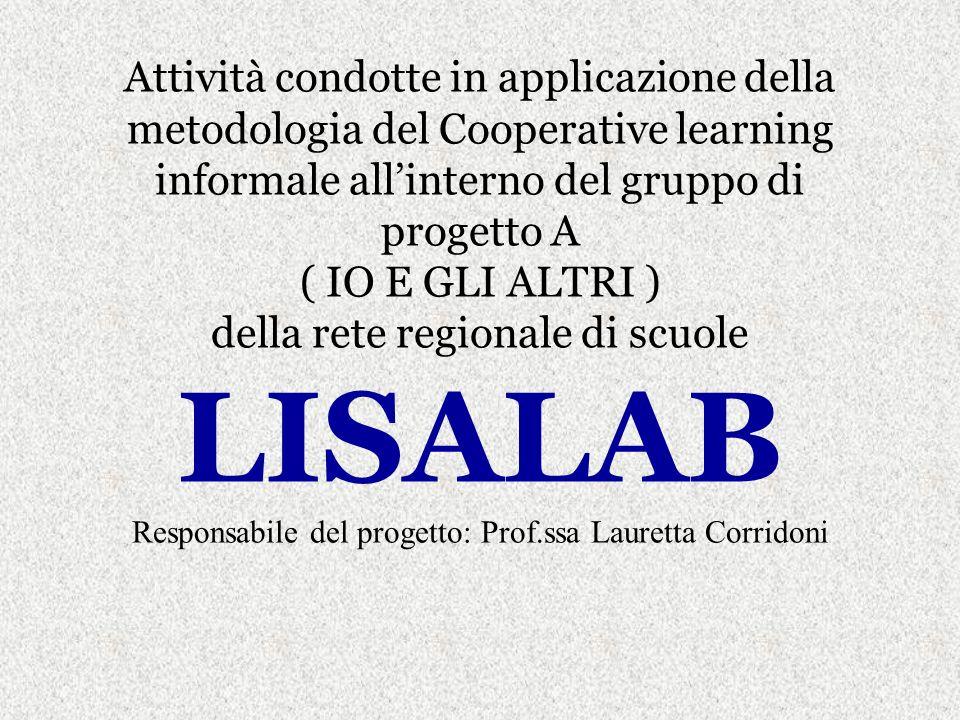 CLASSE III A SCUOLA SEC.I GRADO CAMERINO GRUPPI DI COMPITO IN COOPERATIVE LEARNING INFORMALE: 1.