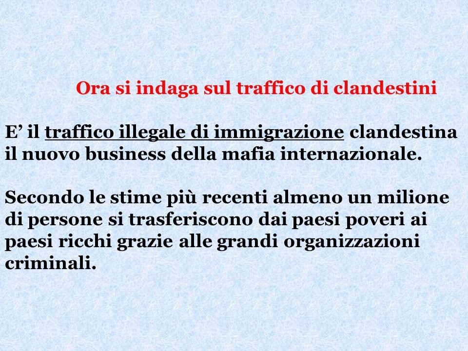 Criminalità organizzata italiana Cosa Nostra siciliana: traffico di droga, di armi, attività finanziarie, estorsioni, interventi in appalti pubblici.