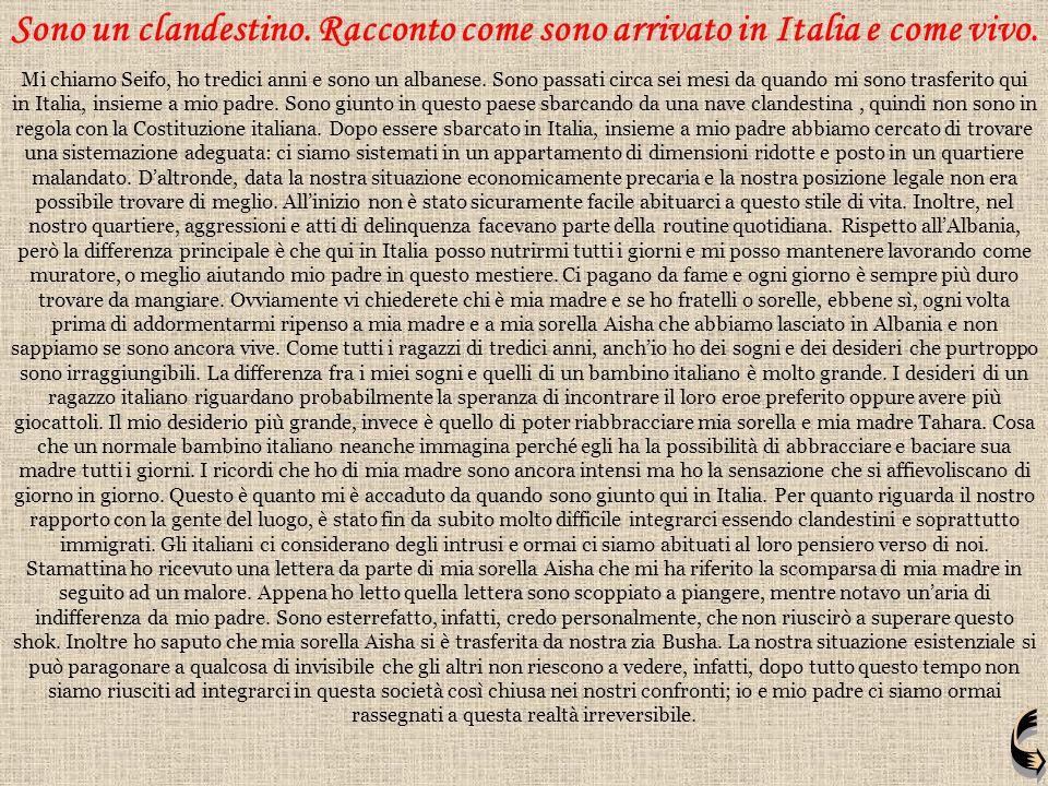 SOLA Partii da casa per cercar fortuna. Dopo esser andata in Italia la mia vita, cambiò radicalmente. Esclusa, ferita moralmente, umiliata; mi creai u