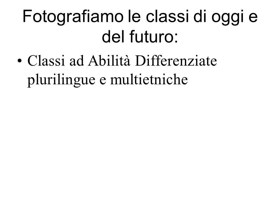 Fotografiamo le classi di oggi e del futuro: Classi ad Abilità Differenziate plurilingue e multietniche