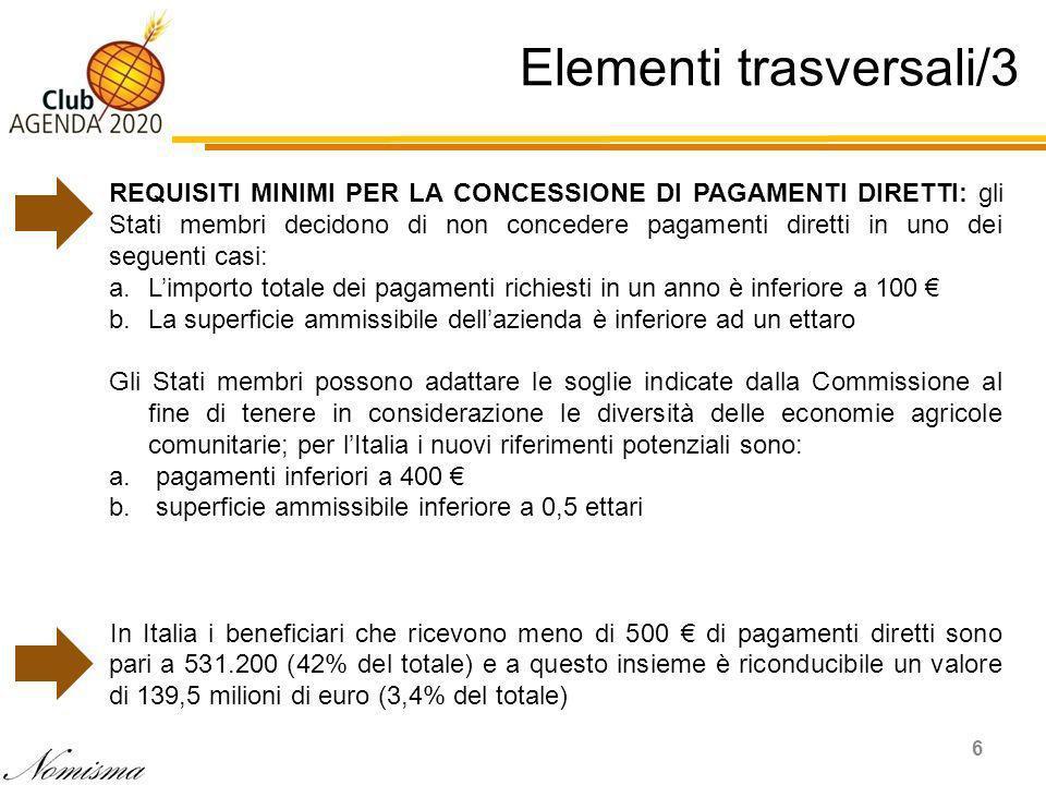 Il calo delle risorse finanziarie per lagricoltura italiana 17 Var. % 2020-2014 = -4,5%