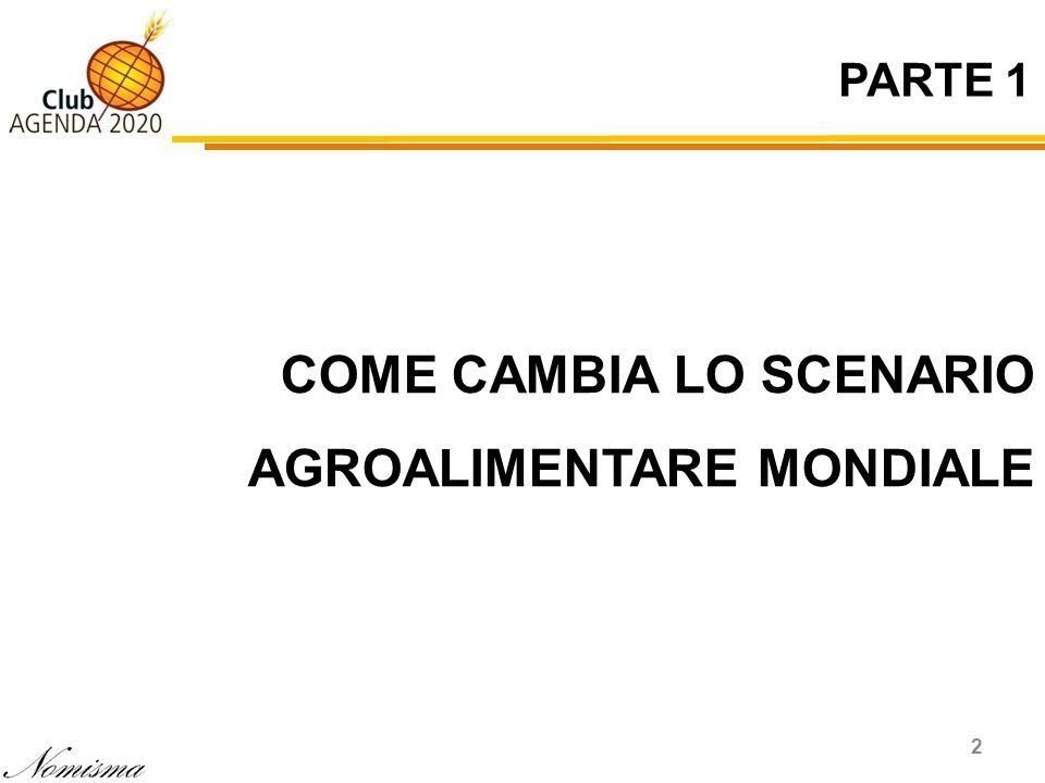 PARTE 1 2 COME CAMBIA LO SCENARIO AGROALIMENTARE MONDIALE
