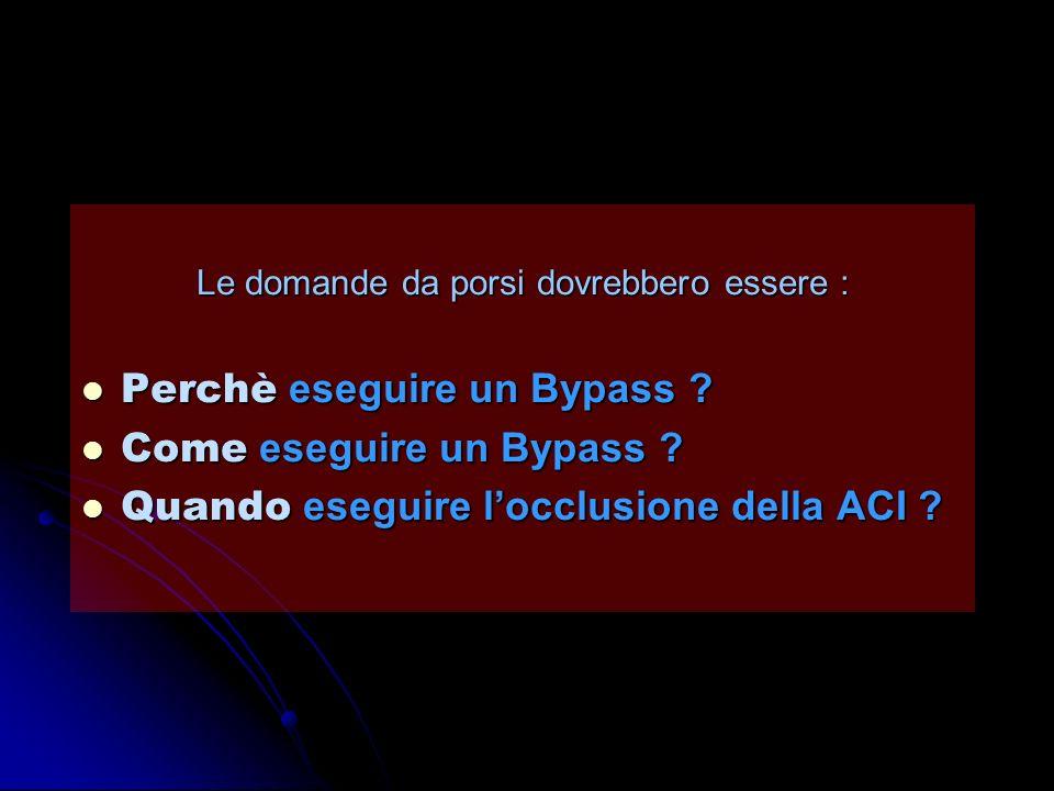 Le domande da porsi dovrebbero essere : Perchè eseguire un Bypass ? Perchè eseguire un Bypass ? Come eseguire un Bypass ? Come eseguire un Bypass ? Qu