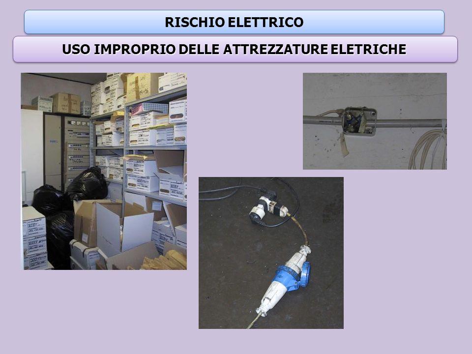RISCHIO ELETTRICO USO IMPROPRIO DELLE ATTREZZATURE ELETRICHE