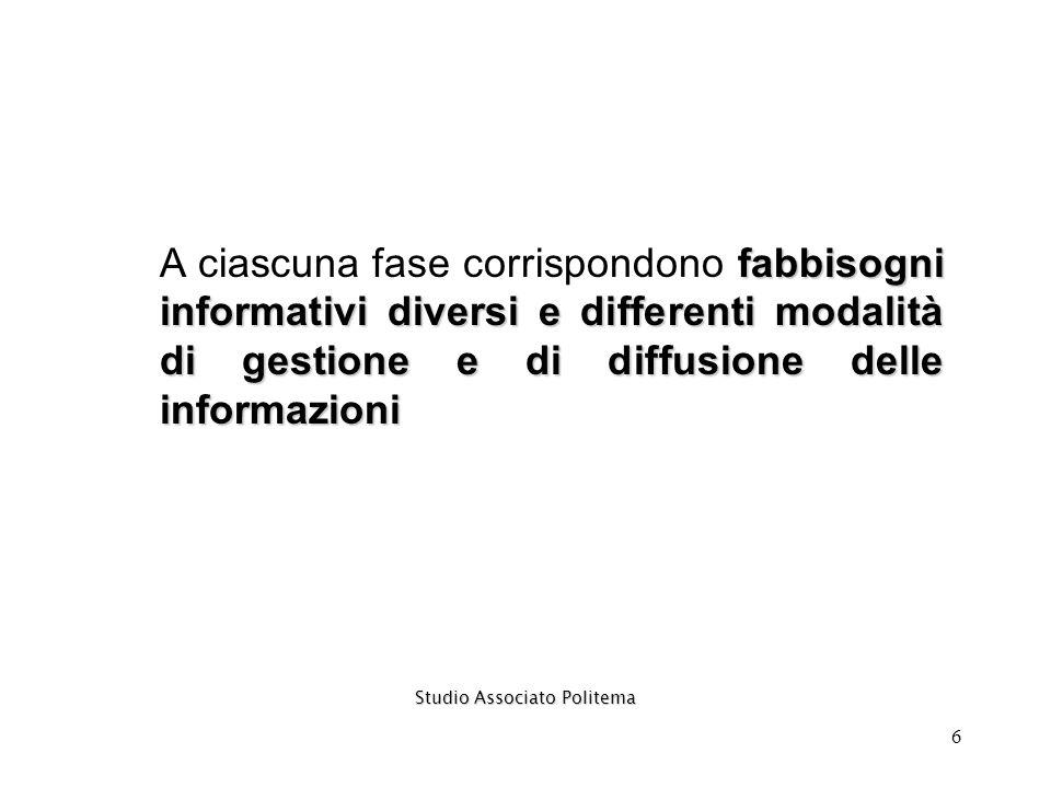 7 I fabbisogni informativi variano al mutare del destinatario interno….