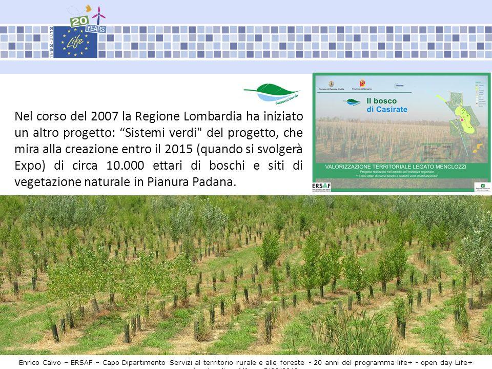 Enrico Calvo – ERSAF – Capo Dipartimento Servizi al territorio rurale e alle foreste - 20 anni del programma life+ - open day Life+ Lombardia – Milano