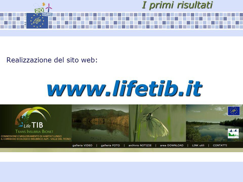 I primi risultati Realizzazione del sito web:www.lifetib.it