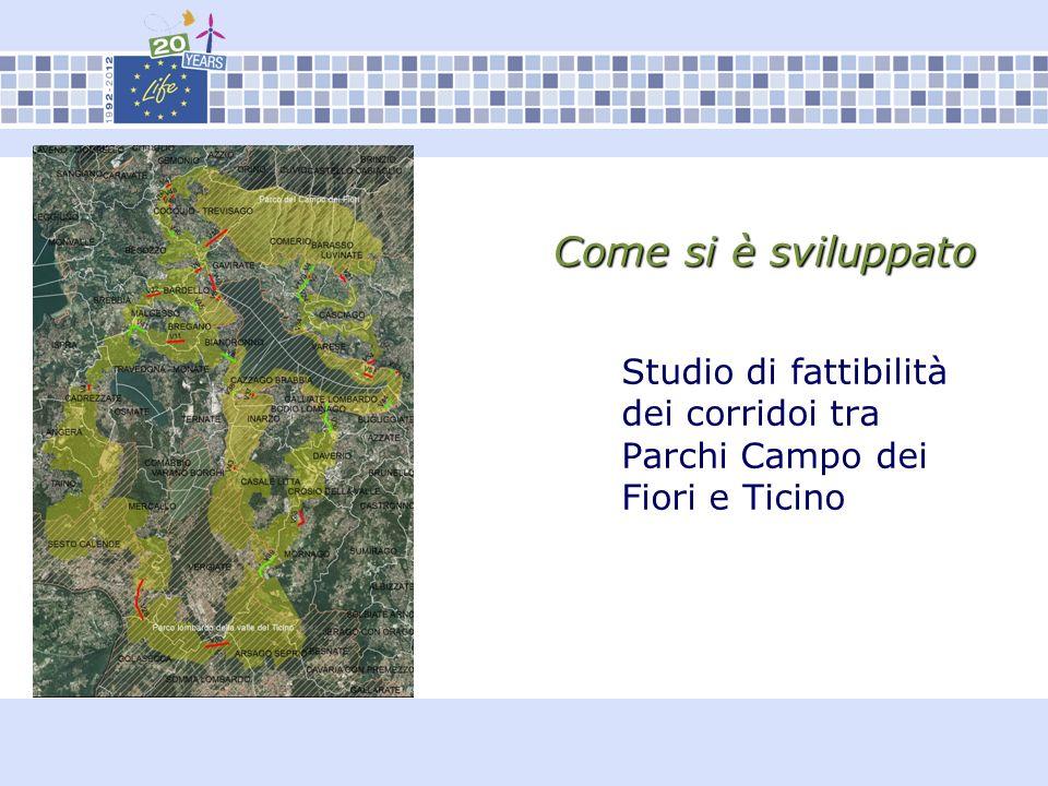 Come si è sviluppato Studio di fattibilità dei corridoi tra Parchi Campo dei Fiori e Ticino