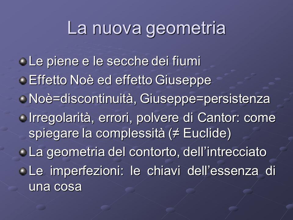 La Terra Le superfici sono forme La superficie della Terra La scala Scholz: geometria frattale come modo per descrivere lirregolarità della superficie terrestre