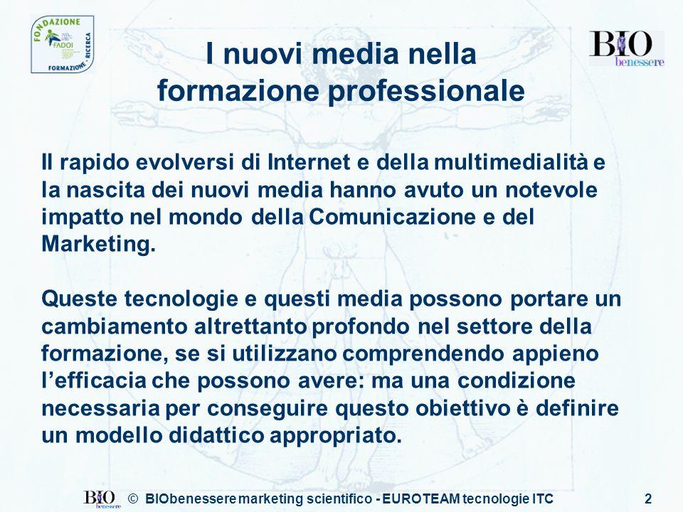 2 I nuovi media nella formazione professionale Il rapido evolversi di Internet e della multimedialità e la nascita dei nuovi media hanno avuto un notevole impatto nel mondo della Comunicazione e del Marketing.