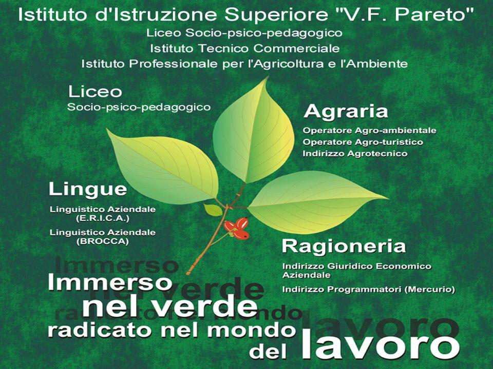 ( ) = ore compresenza e-o laboratorio I II Religione-Attività alternative11 Italiano55 Storia22 Lingua straniera3 3 Diritto ed economia 2 2 Matematica ed informatica4 3 Scienze terra e biologia 3 Principi di agricoltura5(5)3(3) Principi di chimica e pedologia5(5)3(3) Fisica e laboratorio22 Contabilità agraria-3(3) Elementi di disegno professionale2(2) Ecologia agr.