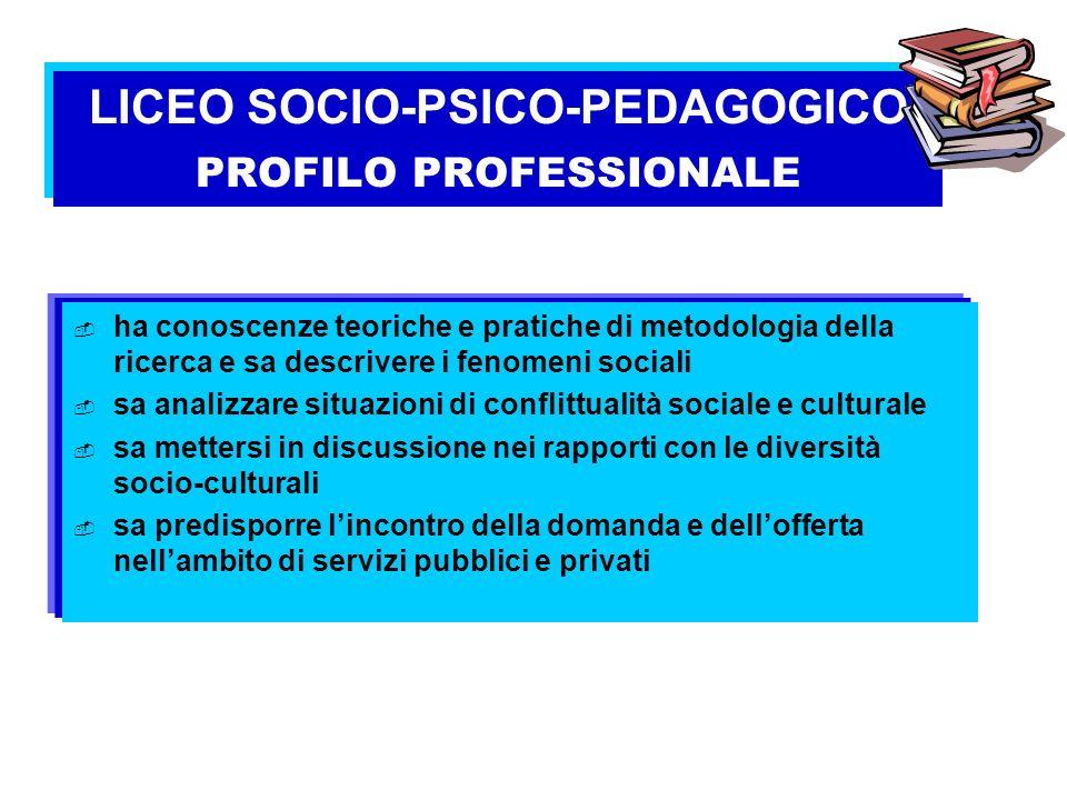 ha conoscenze teoriche e pratiche di metodologia della ricerca e sa descrivere i fenomeni sociali sa analizzare situazioni di conflittualità sociale e