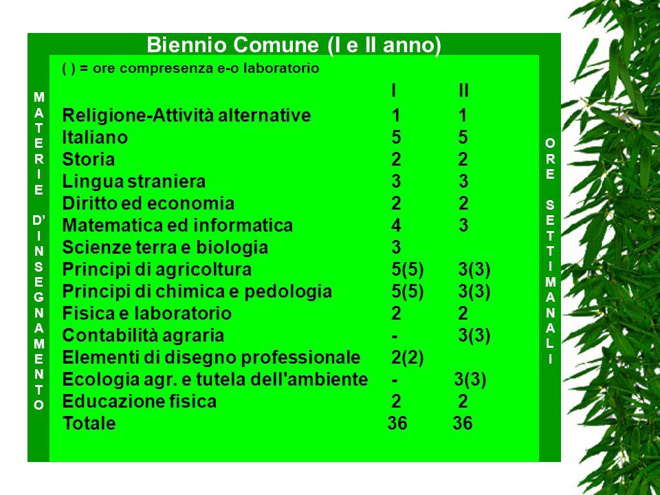 ( ) = ore compresenza e-o laboratorio I II Religione-Attività alternative11 Italiano55 Storia22 Lingua straniera3 3 Diritto ed economia 2 2 Matematica