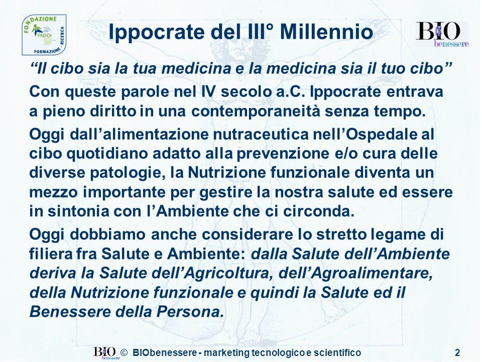 2 Ippocrate del III° Millennio Il cibo sia la tua medicina e la medicina sia il tuo cibo Con queste parole nel IV secolo a.C. Ippocrate entrava a pien