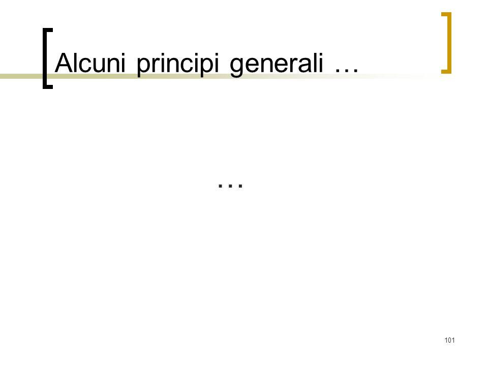 101 Alcuni principi generali … …