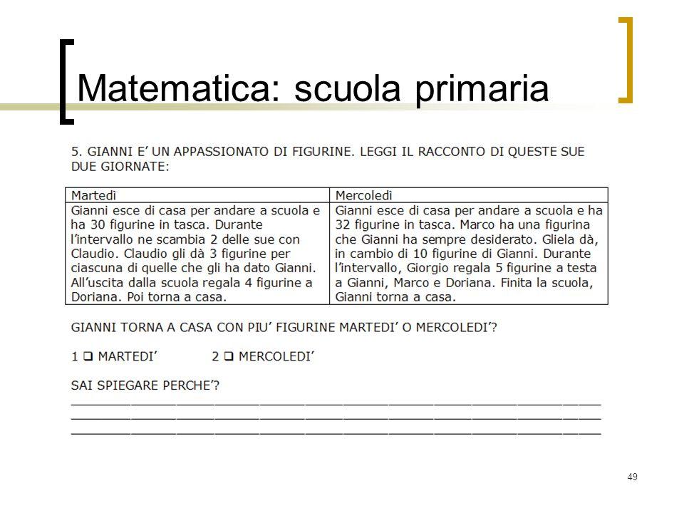 49 Matematica: scuola primaria