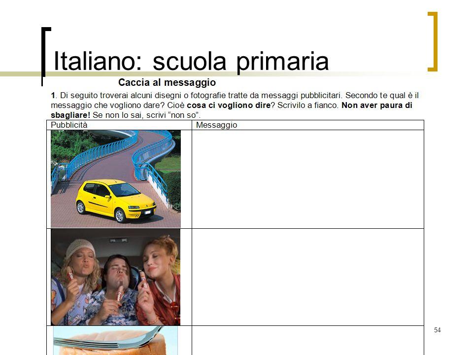 54 Italiano: scuola primaria