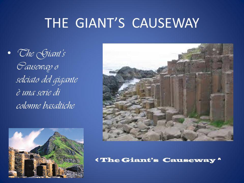 THE GIANTS CAUSEWAY The Giants Causeway o selciato del gigante è una serie di colonne basaltiche < The Giants Causeway ^