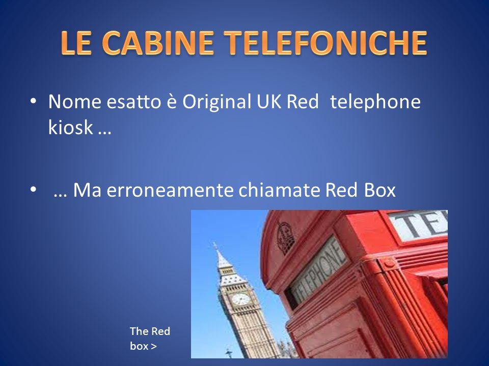 Nome esatto è Original UK Red telephone kiosk … … Ma erroneamente chiamate Red Box The Red box >