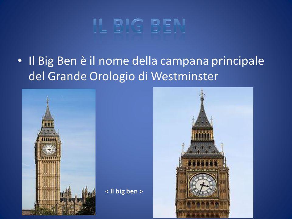 Il Big Ben è il nome della campana principale del Grande Orologio di Westminster