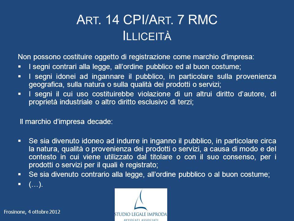A RT. 14 CPI/A RT.