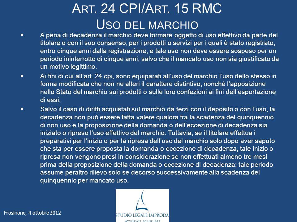 A RT. 24 CPI/A RT.