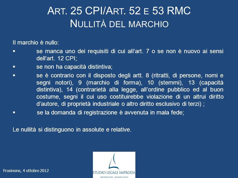 A RT. 25 CPI/A RT.