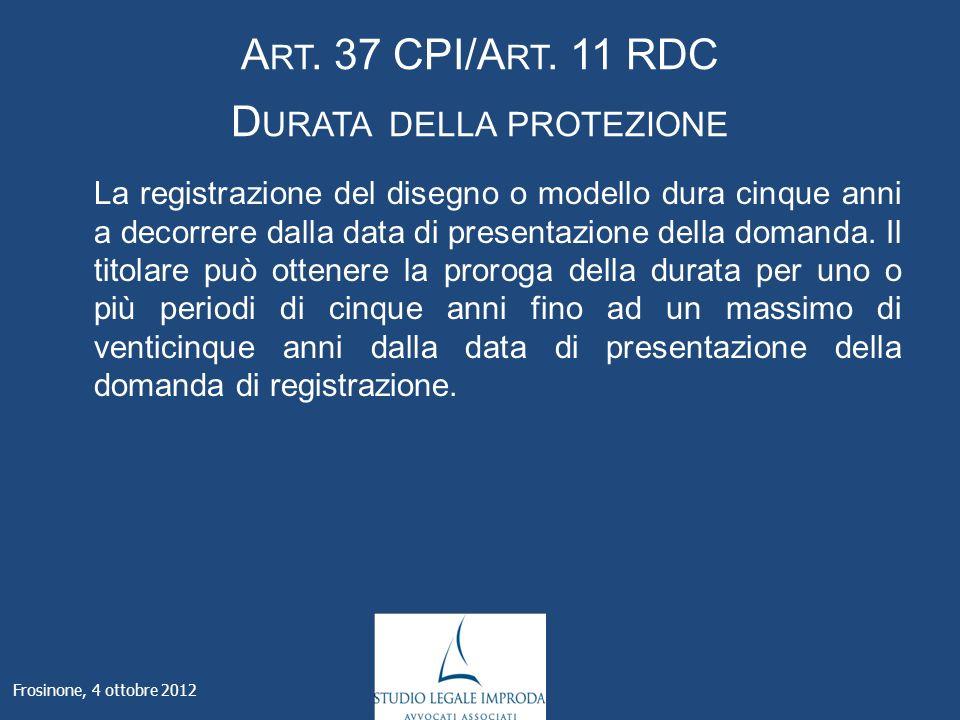 Frosinone, 4 ottobre 2012 A RT. 37 CPI/A RT.