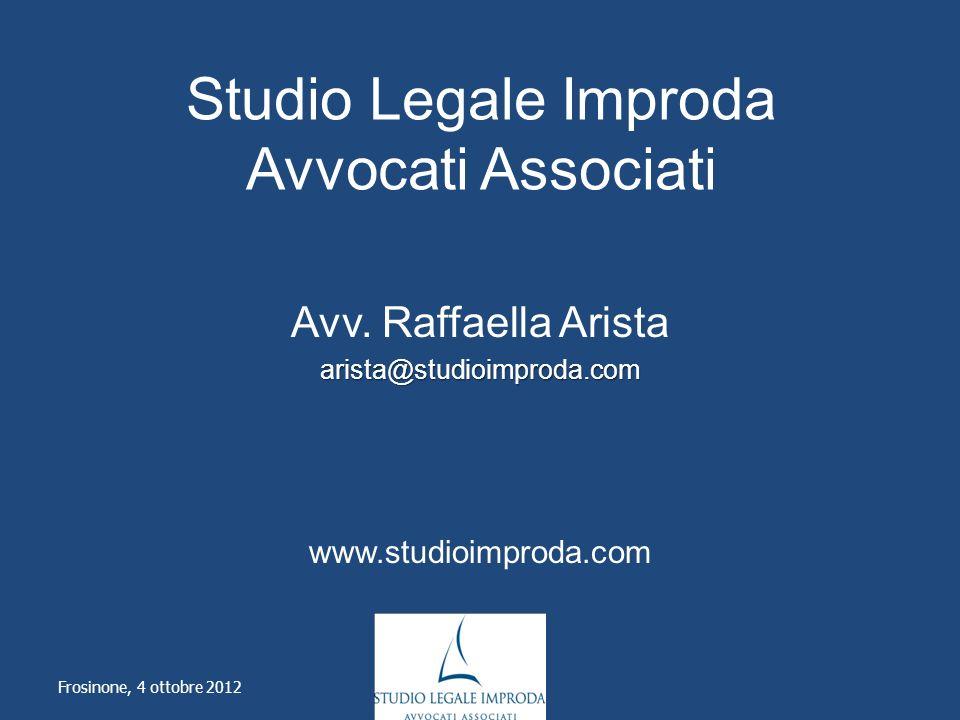 Studio Legale Improda Avvocati Associati Avv.