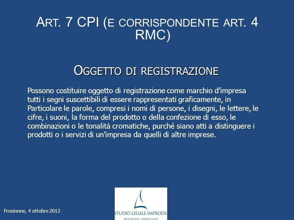 A RT. 7 CPI ( E CORRISPONDENTE ART.