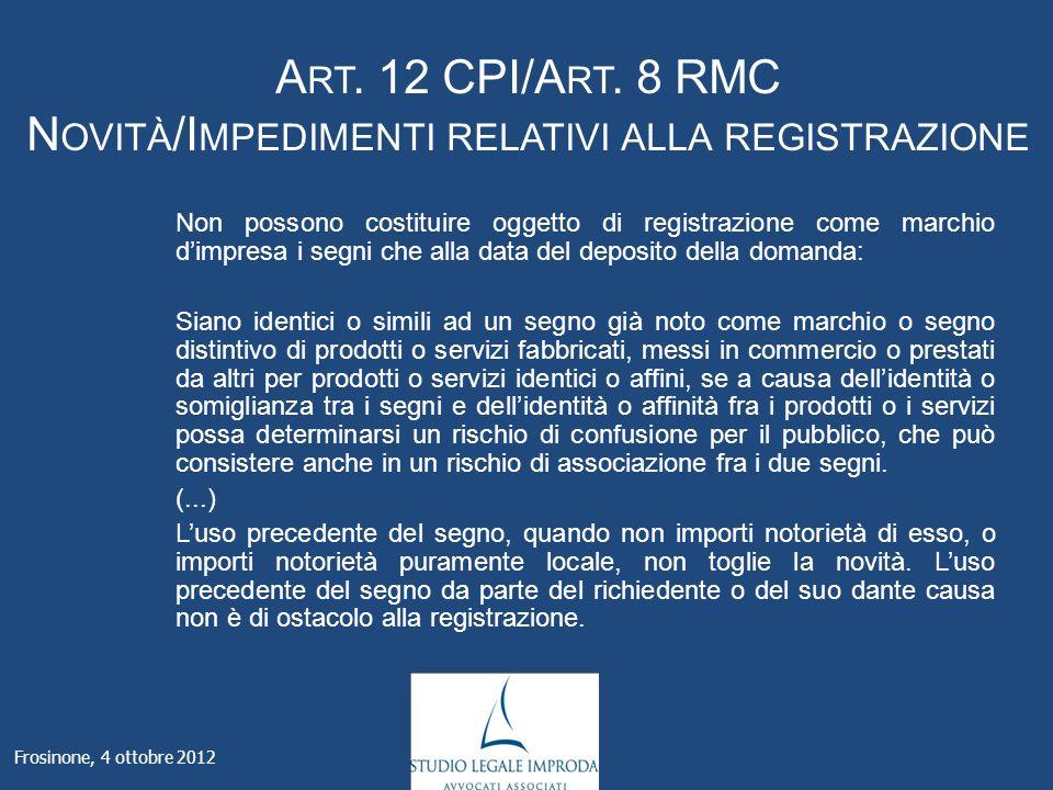 A RT. 12 CPI/A RT.