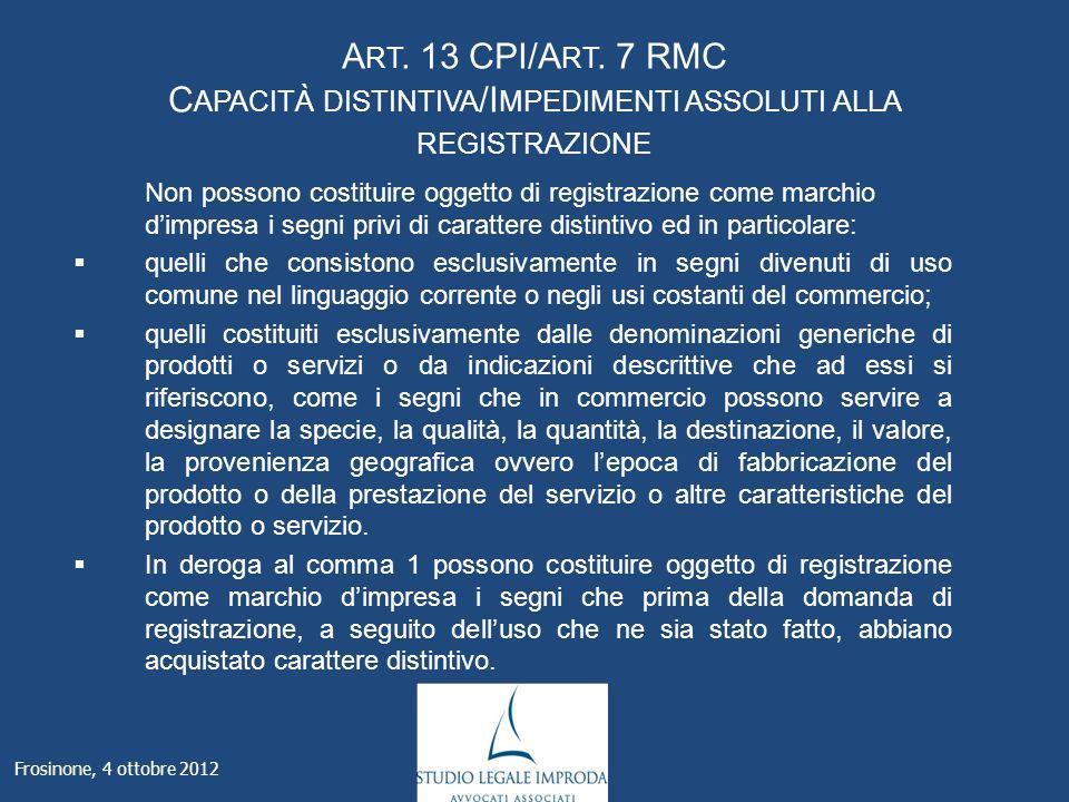 A RT. 13 CPI/A RT.