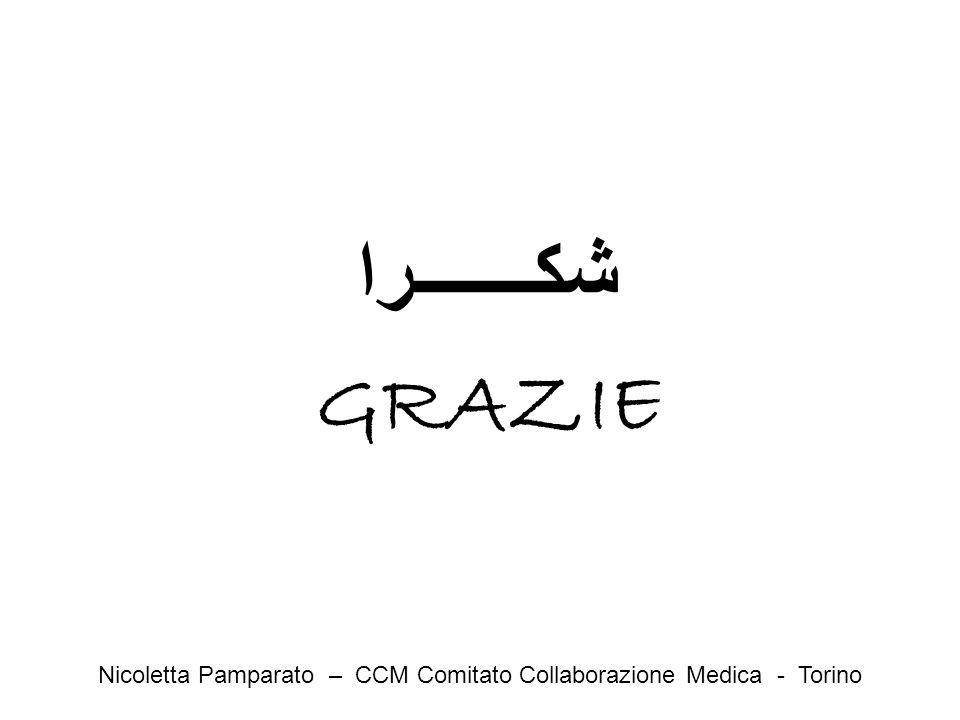 شكـــــــرا GRAZIE Nicoletta Pamparato – CCM Comitato Collaborazione Medica - Torino